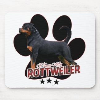 """""""I Love My Rottweiler"""" Mousepad Musmatta"""