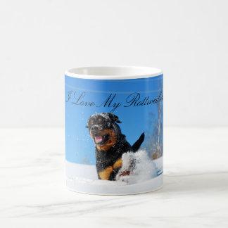 I Love My Rottweiler Mug Kaffemugg