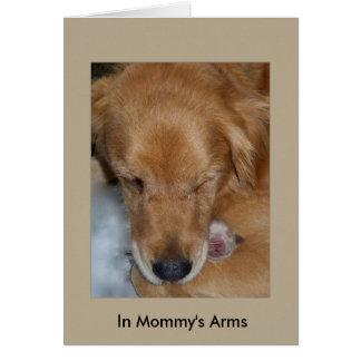 I mommys ärmar hälsningskort