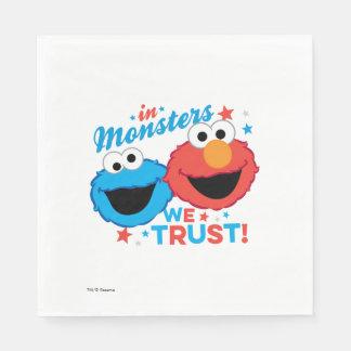 I monster litar på vi! pappersservett