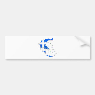 I naturlig storlek Grekland flaggakarta Bildekal