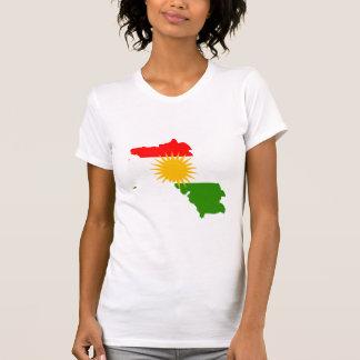 I naturlig storlek Kurdistanflaggakarta T Shirt