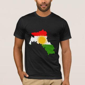 I naturlig storlek Kurdistanflaggakarta T-shirts