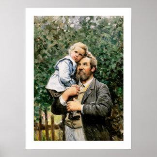 """""""I pappor beväpnar"""" vid Severin Nilsson Poster"""
