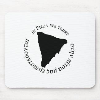 """""""I Pizza litar på vi"""" rolig grafisk design Musmatta"""