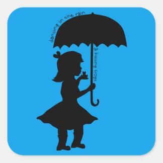 I regna med en groda fyrkantigt klistermärke