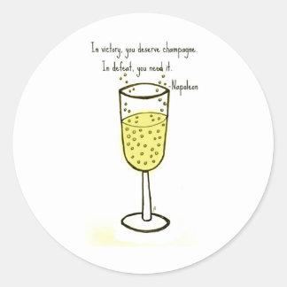 I seger förtjänar du champagnetrycket av jill runt klistermärke