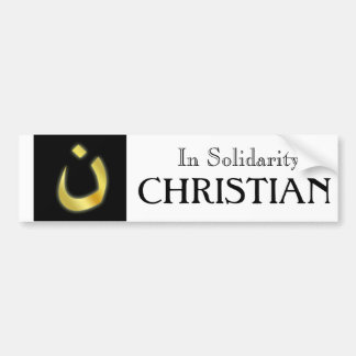 I solidaritet w/our förfölde kristna Brethren Bildekal