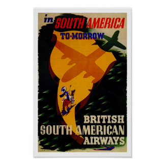 I South America i morgon Poster