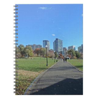 I stadens centrum Boston Anteckningsbok Med Spiral