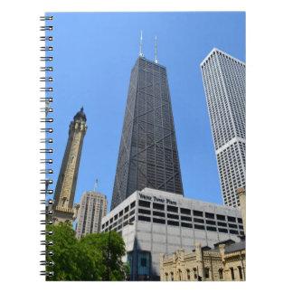I stadens centrum Chicago anteckningsbok