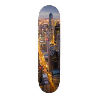 I stadens centrum Chicago horisont på skymningen Skateboard Bräda 21,5 Cm