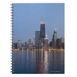 I stadens centrum Chicago horisont Spiral Anteckningsbok