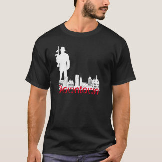 I stadens centrum grafisk tshirt för gangsterstil t shirt