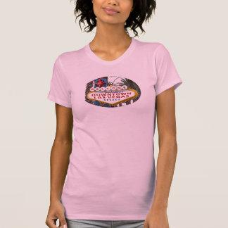 I stadens centrum Las Vegas undertecknar den T Shirts