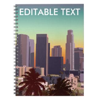 I stadens centrum Los Angeles - anpassadet Anteckningsbok