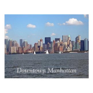 I stadens centrum Manhattan Vykort