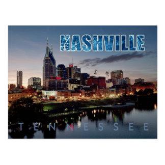 I stadens centrum Nashville horisont, Tennessee på Vykort