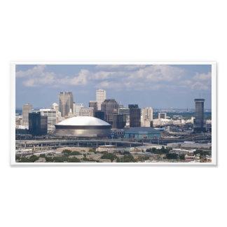 I stadens centrum New Orleans antenn Fototryck