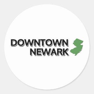 I stadens centrum Newark som är ny - jersey Runt Klistermärke
