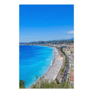 I stadens centrum Nice, frankrike Brevpapper