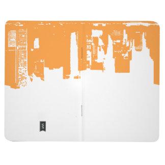 I stadens centrum översida - livlig orange anteckningsböcker