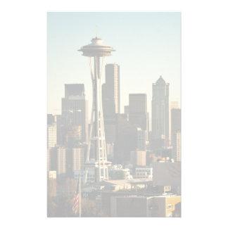 I stadens centrum Seattle horisont och utrymmenål Brevpapper