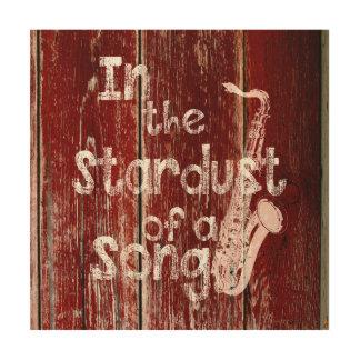 I Stardusten av en lantlig sång - Trätavla