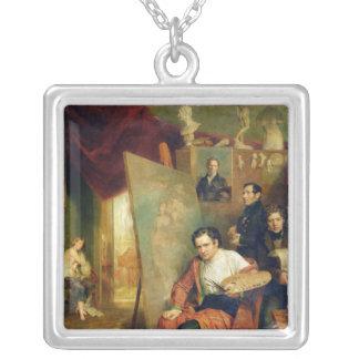 I studion av målare 1832 silverpläterat halsband