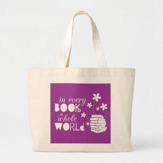 I varje bok en hel värld tote bags