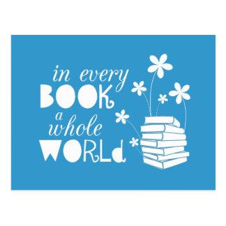 I varje bok en hel värld vykort
