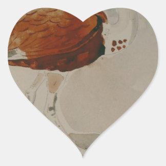 Ibis av Gustave Moreau Hjärtformat Klistermärke