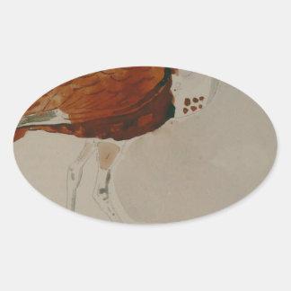 Ibis av Gustave Moreau Ovalt Klistermärke