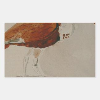 Ibis av Gustave Moreau Rektangulärt Klistermärke