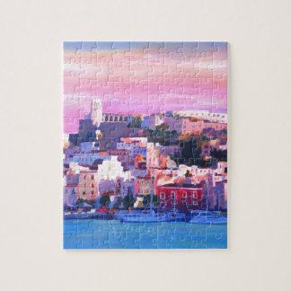 Ibiza Eivissa gammal Town och hamnpärla Pussel