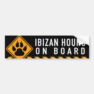 Ibizan hund ombord bildekal