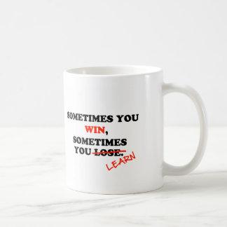 Ibland formulerar du Motivational seger… typografi Vit Mugg