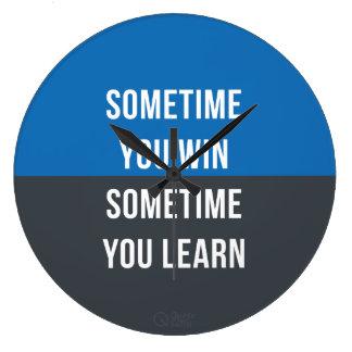 Ibland segrar du, ibland dig lärer tar tid på stor klocka