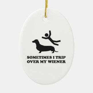 Ibland snubblar jag över min Wiener Ovalformad Julgransprydnad I Keramik