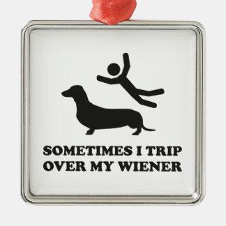 Ibland snubblar jag över min Wiener Silverfärgad Fyrkantigt Julgransprydnad
