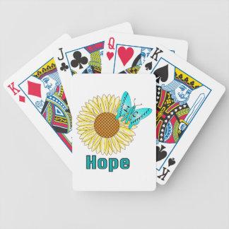Ic-fjäril på solrosen spelkort