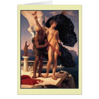 Icarus och Daedalus av Frederick Leighton Hälsningskort