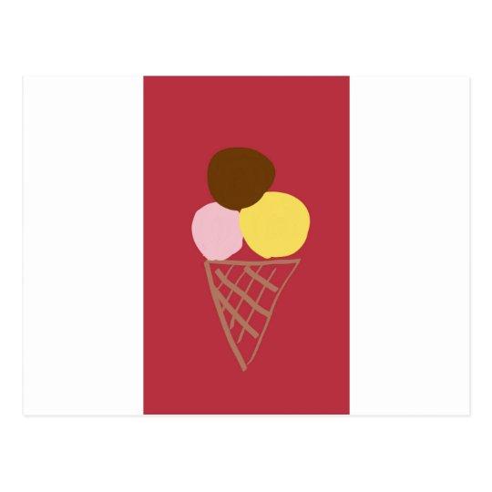 Ice cream cone vykort