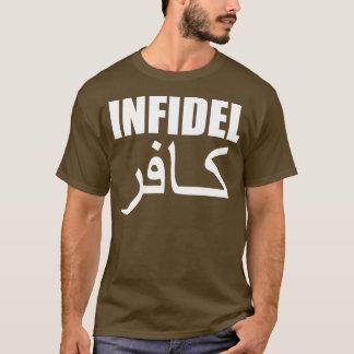 icke-troende med baksida t-shirt