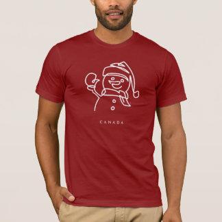 Iconic Canadiana snögubbe T-shirts