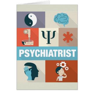 Iconic designat för yrkesmässig psykiater hälsningskort
