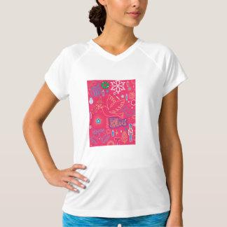 Iconic julkvinna V-Nacke för Sport-Tek T-tröja T Shirt
