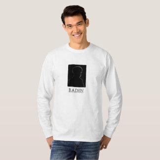 Iconic manar skjorta som presenterar Badin Tee Shirts