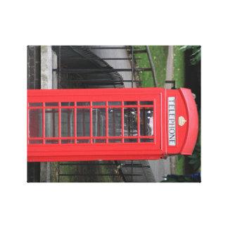 Iconic rött ringer båset på kanfas, London Canvastryck