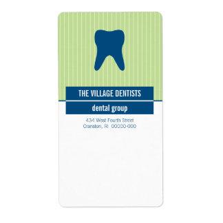 Iconographic tand- blåttgrönt fraktsedel